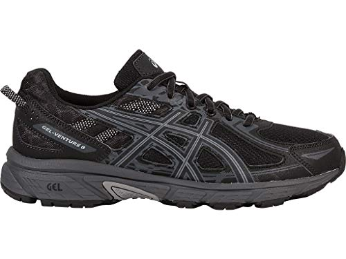 ASICS Men's Gel-Venture 6 Running Shoe, Black/Phantom/Mid Grey, 7 Medium US