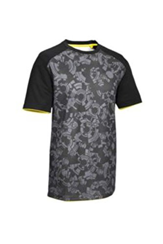 Para bicicleta de hombre manga - T-camiseta - Camiseta, ropa de deporte, color negro / gris, tamaño XL 56/58