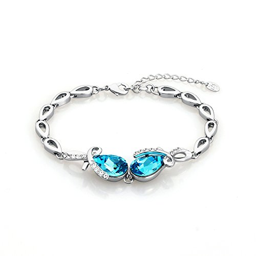 ananth Tear Agua Gota Chapado en platino joyas cristal de Swarovski pulsera para las mujeres