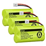 iMah Ryme B2-2 BT18433/BT28433 Phone Battery Compatible with AT&T and VTech BT18433 BT28433 BT184342 BT284342 BT183348 BT283348 T-T104 BT-1011 BT-1018 BT-1022 BT-1031 (Pack of 3)