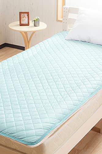 システムK ひんやり 敷きパッド 夏 接触冷感 抗菌 防臭 冷たい 敷パッド ブルー 1.シングル