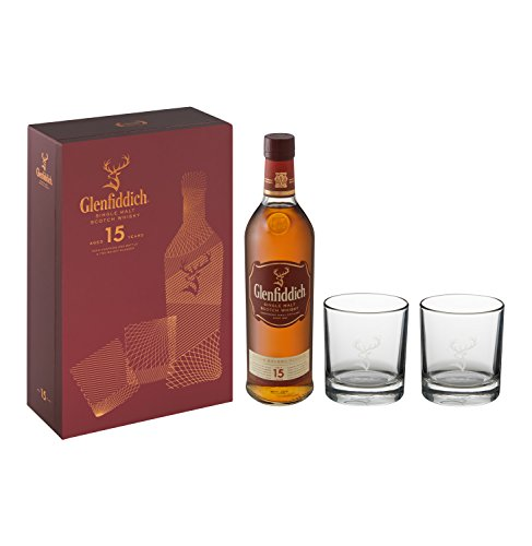 Glenfiddich 15 Year Old 70cl With 2 Glasses Gift Pack
