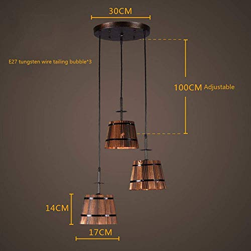 WZC Lámpara de Araña Decorativa-Lámpara de Araña Industrial Lámpara Colgante de Interior Montaje Empotrado Iluminación Colgante Inicio Accesorio de Iluminación Retro dfghmjnbvcxvb