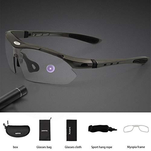 RSTT Gafas de sol fotocromáticas para ciclismo, para hombres y mujeres, movimiento de road, MTB, gafas de protección
