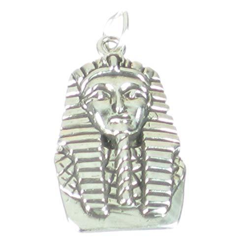 Tutankhamon Faraone pesante in argento Sterling ciondolo .925x 1Egitto sslp2753