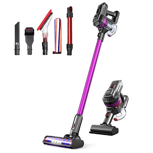 Dibea E19Pro Lightweight Vacuum Cleaner Cordless 22Kpa Powerful Suction Bagless Rechargeable 2 in 1 Handheld Car Vacuum