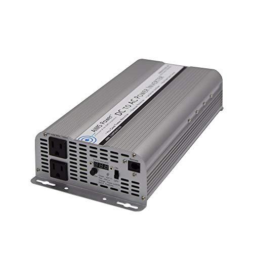 AIMS 2500 Watt / 5000 Watt Peak DC to AC Power Inverter, Digital Power Meters, Optional Remote Port