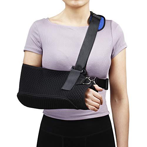 REAQER Armschlinge Schulter-Wegfahrsperre mit Schultergurt für Gebrochenen Arm Handgelenk Ellbogen für Riss, Luxation, Verstauchungen und Dehnungen oder Frakturen