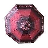 LYJZH Regenschirm, Winddichter, Stabiler Und Kompakter Großschirm, Schnell Trocken, Umbrella 8 Bone Automatikschirm dreifachgefalteter Sonnenschirm color6 98cm