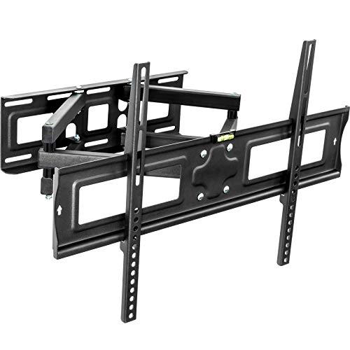 """TecTake 401289 TV Wandhalterung neigbar & schwenkbar, VESA max 600x400, für 80cm-163 cm (32\"""" - 63\"""") bis 120 kg, schwarz"""