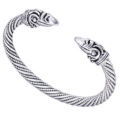 Viking Bracelet Male Pagan Jewellery Raven Head Bangle&Bracelet for Man and Women Jewelry
