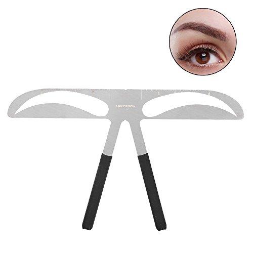 Augenbrauen-formende Schablone, 3 Arten Berufsaugenbrauen-Schablone, die Schablone DIY Formung formt, bestimmen Machthaber-Make-upwerkzeug(Dame Eyebrow)