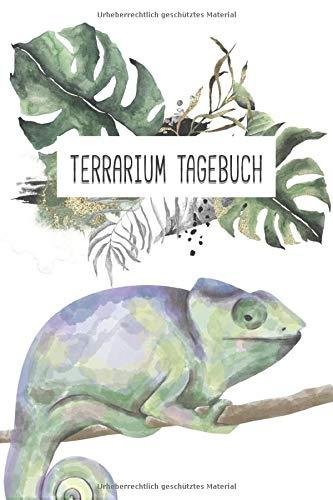 Terrarium Tagebuch: Chamäleon Tagebuch - Logbuch für Haltung von Pantherchamäleons I Terrarium Planer Notizbuch I Journal für ein halbes Jahr I Futter Tracking