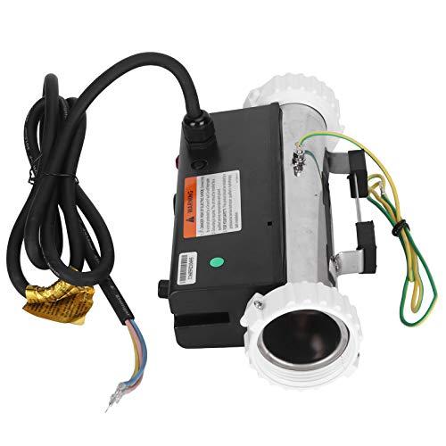 Rodipu Calentador de Agua para Piscina, termostato de SPA de Acero Inoxidable Resistente al Agua de 3KW, para Calentar Agua, SPA, Temperatura Constante en el hogar