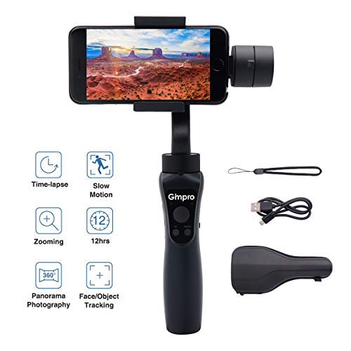 Gimpro Stabilisateur Smartphone Gimbal 3-Axes Handheld pour Mobile Phone Téléphone pour iPhone 11 Android Action Camera GoPro 7/6/5/4/3+