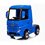 電動乗用ラジコン メルセデス・ベンツ トラック アクトロス (Mercedes-Benz ACTROS) ペダルとプロポで操作可能な電動ラジコンカー 乗用玩具 子供が乗れるラジコンカー 電動乗用玩具 [358] (ブルー)