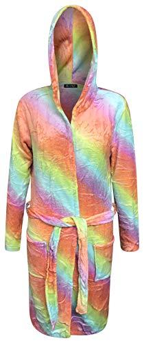 Live It Style Het Eenhoorn Badjas voor Vrouwen Volwassen Dressing Jurk Dames Zachte Hooded Nachtkleding