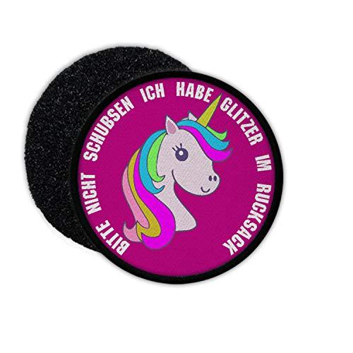 Copytec patch Gelieve niet schubben Ik Habe Glitter in de rugzak Eenhoorn yoghurt #32567