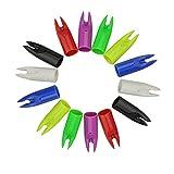 100 Pezzi Tiro con L'arco Freccia Cocche Plastic Cocca Coda di Freccia per Asta di Freccia...