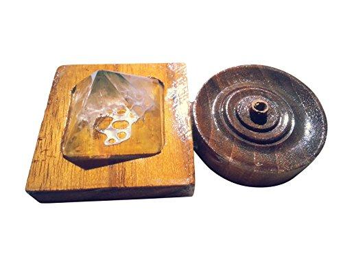 Wierookstokjeshouder Incense Burner met bergkristal piramide