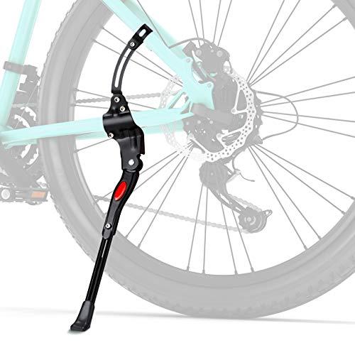Favoto Cavalletto Bici MTB Cavalletto Laterale Regolabile in Lega di Alluminio Adatto per Biciclette 26' 28' Mountain Bike, Bici da Strada, con Piede Gomma Antiscivolo