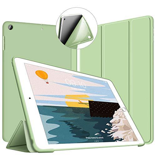VAGHVEO Cover per Nuovo iPad 9.7 2018/2017, Custodia Sottile e Leggere [Auto Sonno/Sveglia] Smart Case Posteriore Soffice TPU per Apple iPad di 5/6 Generazione (A1893/A1954/A1822/A1823), Verde_02