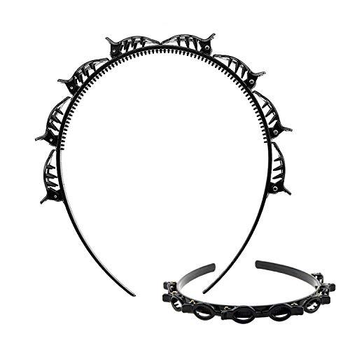 Tomedeks Haarnadel Stirnband, Doppelknall Haarnadel, geeignet für Hochzeiten, Tänze, Partys, Paare, tägliche Aktivitäten (1 schwarz)