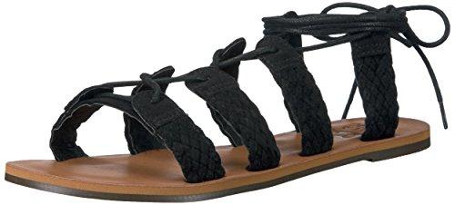 Billabong Women's Beach Bandit Gladiator Sandal, Off Black, 8 M US