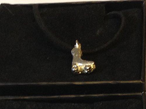 GIFTSFORALL Halskette mit Rollschuh-Anhänger TG317 aus englischem Zinn auf 45,7 cm schwarzer Kordel