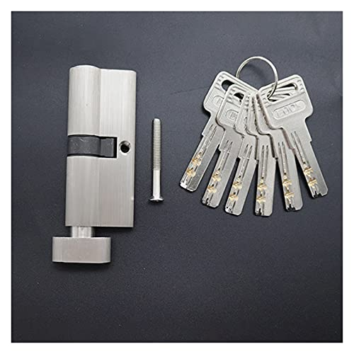 Cerraduras de Puertas Cilindros de Bloqueo de Seguridad 55 60 65 70 75 80mm para Bloqueo de Puerta de 35-50 mm de Espesor para Cilindros de Bloqueo de núcleo de casa 6Keys (Color : 55mm27.5add27.5)