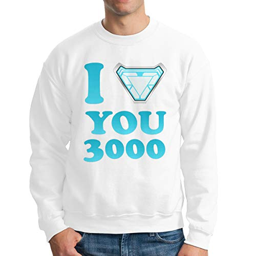 VV & NO AEG I Love You 3000 Tony Stark Men's Boys Crew Neck Long Sleeve Hoodie Tshirt