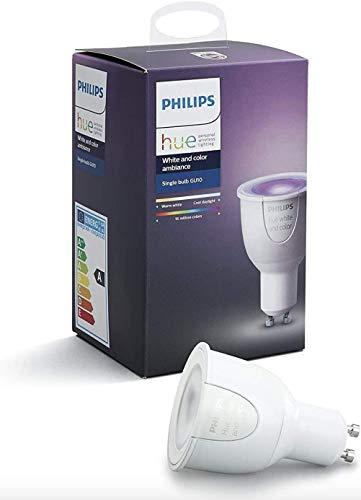 Philips Hue White und Color Ambiance GU10 LED Lampe 3-er Starter Set,16 Mio. Farben, dimmbar, steuerbar via App, kompatibel mit Amazon Alexa