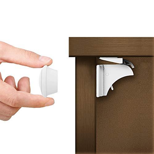 MATANA 20 Cerraduras de Seguridad para Niños Magnéticas Invisibles y 4 Llaves