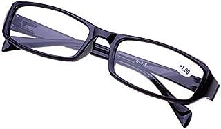 TT WARE Men Women HD Full Frame Super Lightweight Reading Glasses Flexible Reader Presbyopic Glasses-Black-2.0