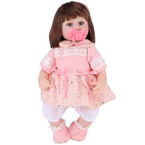 Xinde Las extremidades Pueden moverse, Pueden Sentarse y acostarse, muñecas para bebés renacidos vívidas, muñeca para niñas, para niños, niñas, niños, Regalo para niños(42CM Car Hair Doll)
