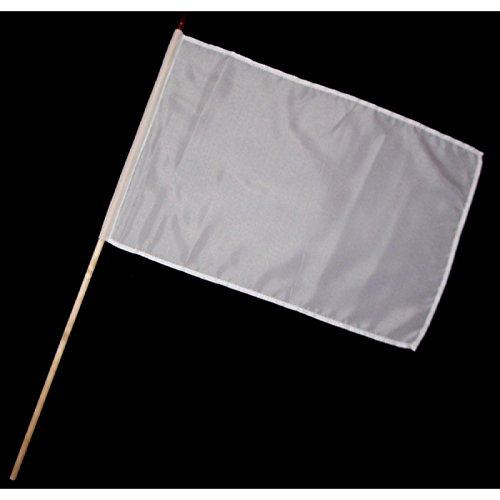 Stock-Flagge 30 x 45 : Weiß - Ideal zum selbergestalten!