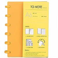 学校の日常生活のための筆記具、可動ページソートA6紙ポータブル事務用品(Blank (orange))