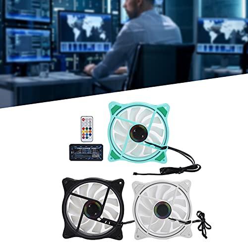 SHYEKYO Ventiladores de refrigeración, práctico Ventilador portátil con disipador de Calor a Prueba de Golpes para Uso en oficinas(Green Black and White, Pisa Leaning Tower Type)