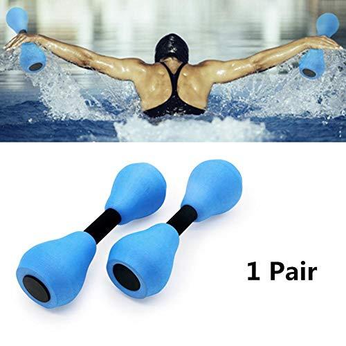 1 Pair Aquatic Exercise Dumbells, Water Aerobic Exercise Foam Dumbbell Pool Resistance,Water Aqua Fitness Barbells Hand Bar Exercises Equipment