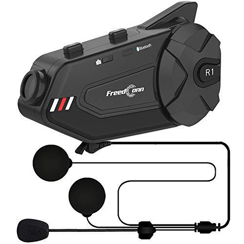 ILM Motorcycle Helmet Bluetooth Intercom HD Camera 6 Riders Group Communication System Headset with...