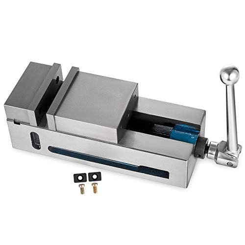 Mophorn Tornillo de Banco 100 mm Prensa de Sujeción Banco Alta Precisión 100 mm Ancho Mordaza Tornillo Fijo CNC