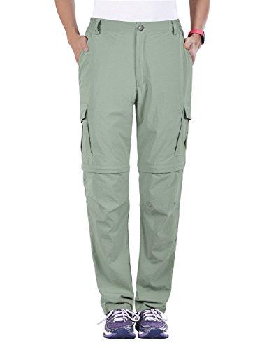 Unitop Women's Quick Dry Convertible Hiking Pants Light Light Green M 30