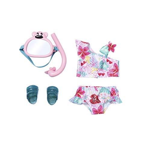Zapf Creation 829240 BABY born Holiday Deluxe Bikini Set Puppenkleidung 43 cm, rosa/bunt