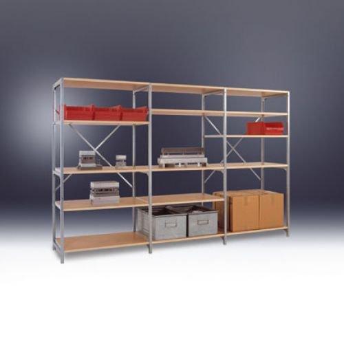Manuflex–Planoflex Anbauregal 5Fachböden RAL5007