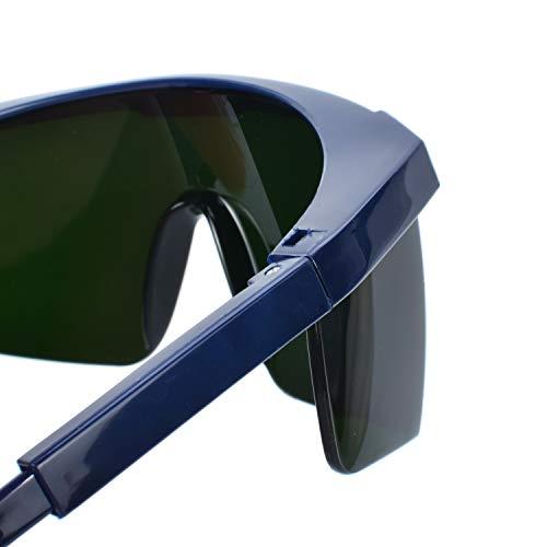 Mufly Schweißerbrille Schweißer Sicherheitsbrillen,klappbar,Anti-Flog,Anti-Shock,Blendschutz,Schutzgläser für Schweißer mit transparenter und schwarzer Brille(IR5.0) - 4