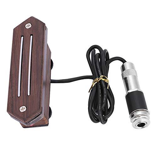 Akustik Gitarren Pickup, Palisander Einstellbare Timbre Dual Rail Pickup für Folk Gitarre Musikinstrument Zubehör