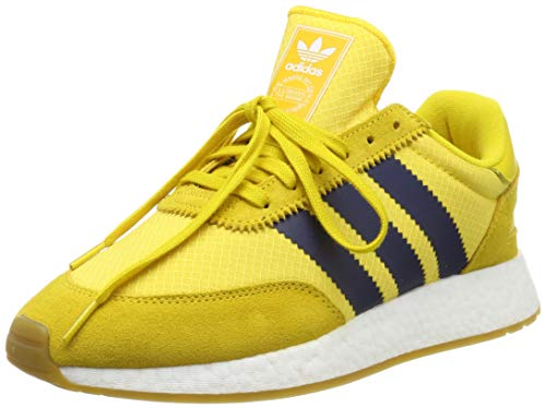 adidas I-5923, Zapatillas de Gimnasia Hombre, Amarillo (Tribe Yellow/Night Indigo/Gum 3 Tribe Yellow/Night Indigo/Gum 3), 36.5 EU
