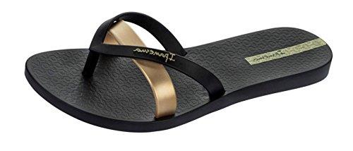 Ipanema Damen Silk Premium Plateausandalen, Schwarz (Schwarz/Gold), 36 EU