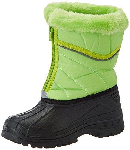 Playshoes Kinder Winter-Stiefel, gefütterte Schneestiefel mit Reisverschluss, Grün (grün 29), 20/21