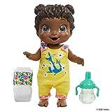 Baby Alive Muñeca Baby Gotta Bounce, Traje de Canguro, rebota con más de 25 SFX y Risas, Bebidas y mojadas, Juguete de Pelo Negro para niños a Partir de 3 años